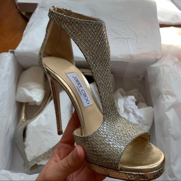 Jimmy Choo Champagne Gold Lana Heel